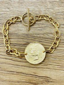 Armband Anfertigung mit Münze von Kundin